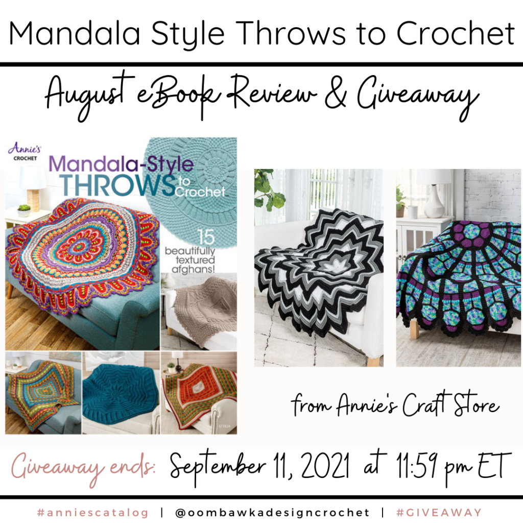 Mandala Style Throws to Crochet Review and Giveaway