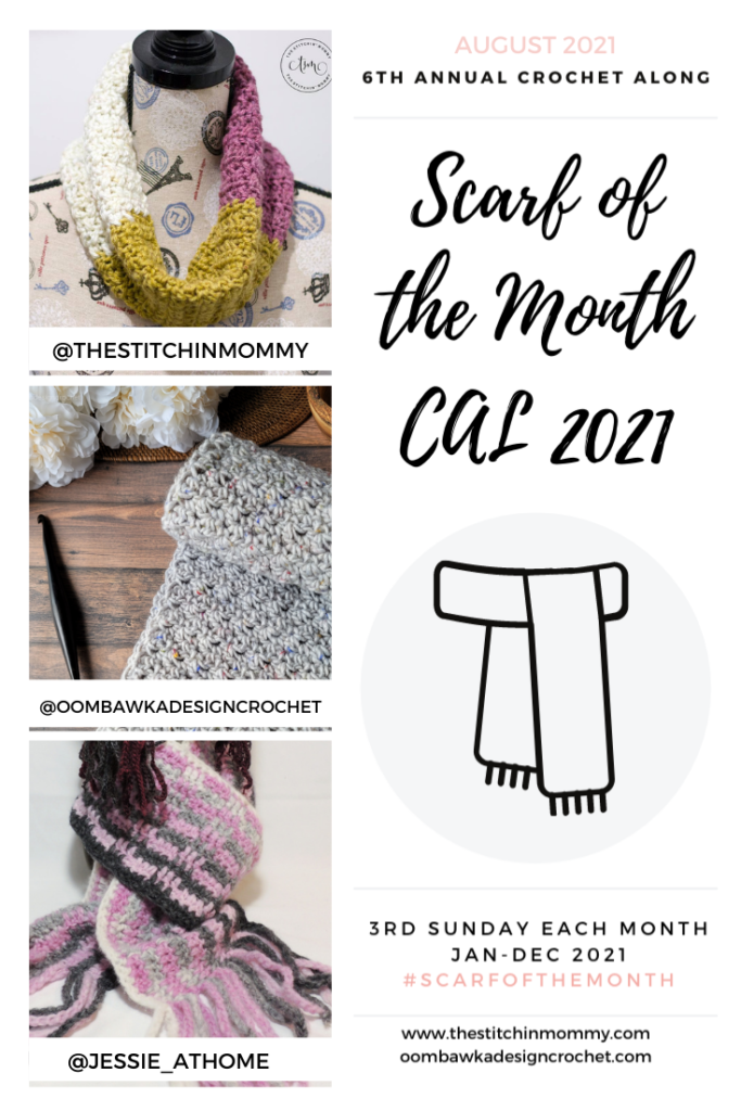 August Scarf of the Month CAL 2021 GRID PIN