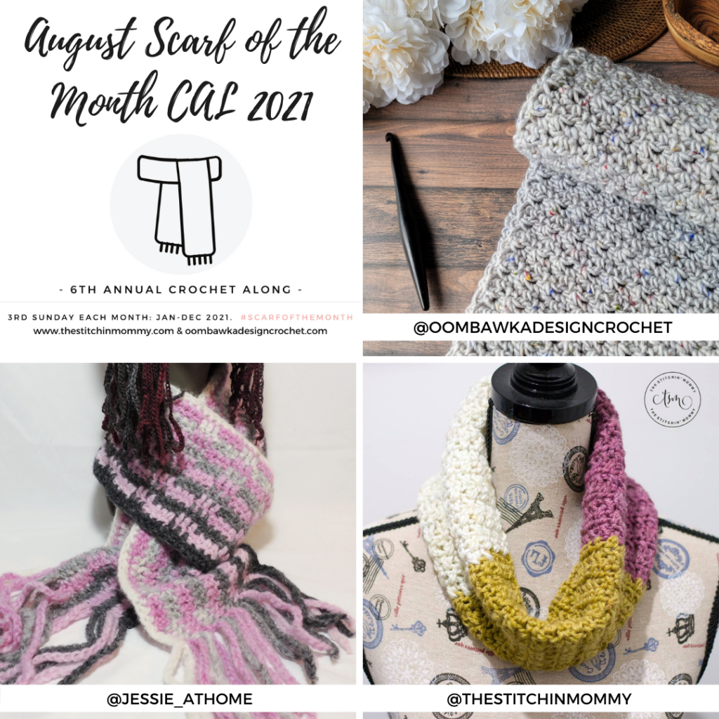 August Scarf of the Month CAL 2021 grid