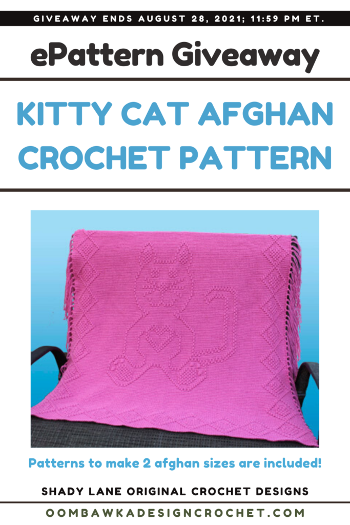 Kitty Cat Afghan a Shady Lane Original ePattern Review and Giveaway