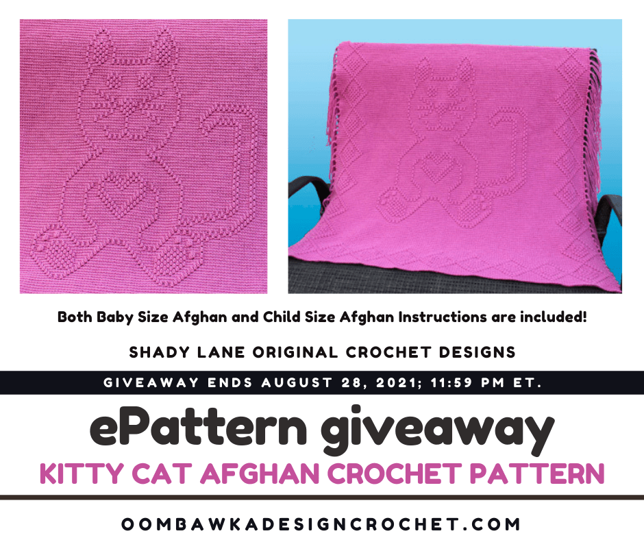 Kitty Cat Afghan a Shady Lane Original ePattern - Review and Giveaway