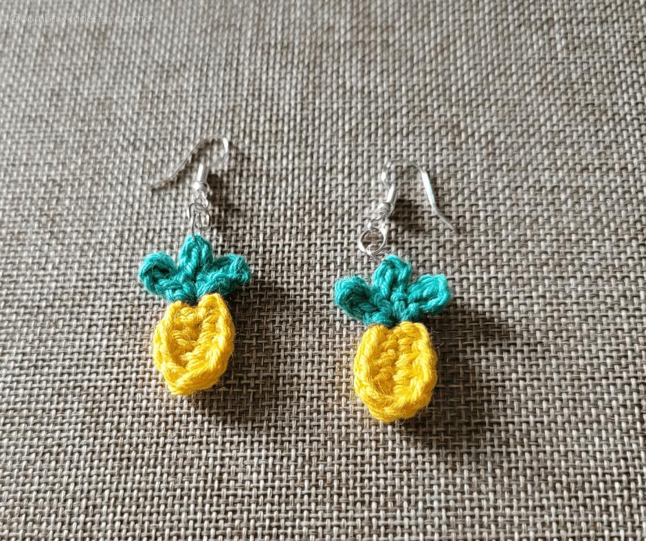 Quick Summer Pineapples Pattern - Earrings