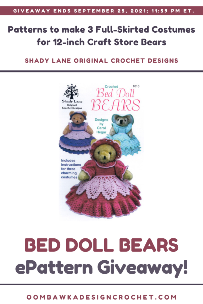 Bed Doll Bears ePattern Review and Giveaway