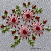 Daisy Flowers Embroidery - Link Party 417