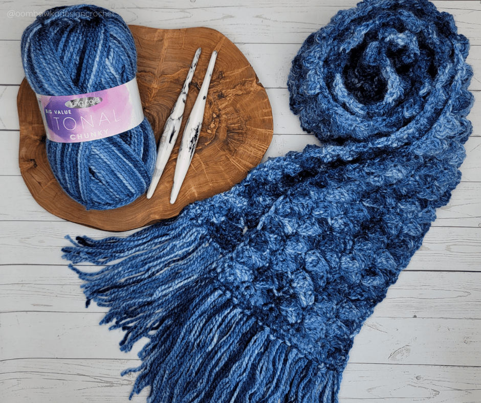 Easy Does It Textured Crochet Scarf Pattern