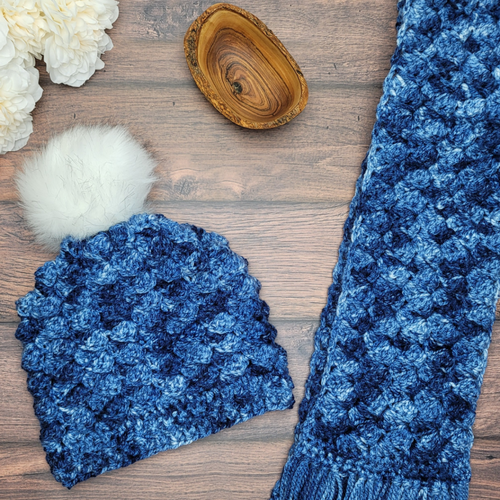 Easy Does It Textured Hat and Scarf Patterns - OombawkaDesignCrochet