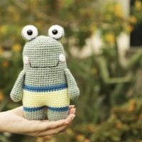 Flippy the Crochet Frog - Party 416