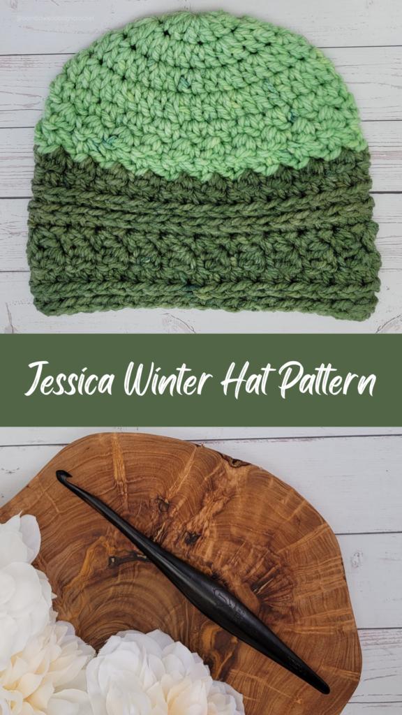 Jessica Winter Hat Pattern - Rhondda Mol