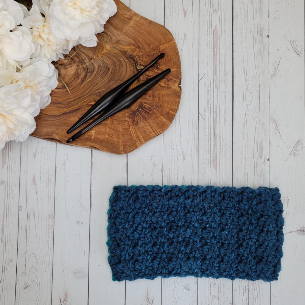 Jordan Winter Earwarmer Crochet Pattern Child Teen Adult - Rhondda Mol