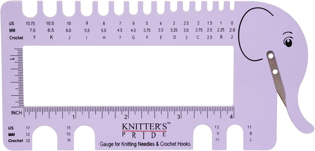Knitters Pride Needle and Crochet Hook Sizer