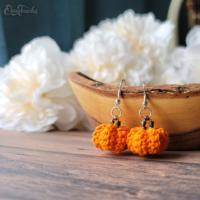 Little Pumpkin Earrings Crochet Pattern