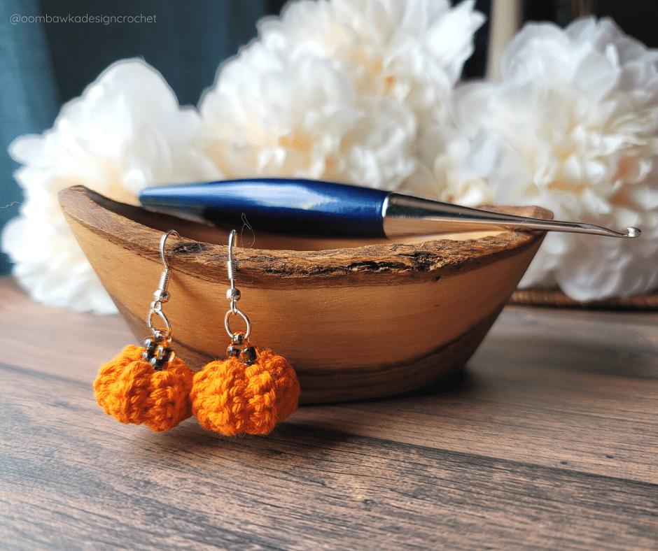 Little Pumpkin Earrings Pattern ODC