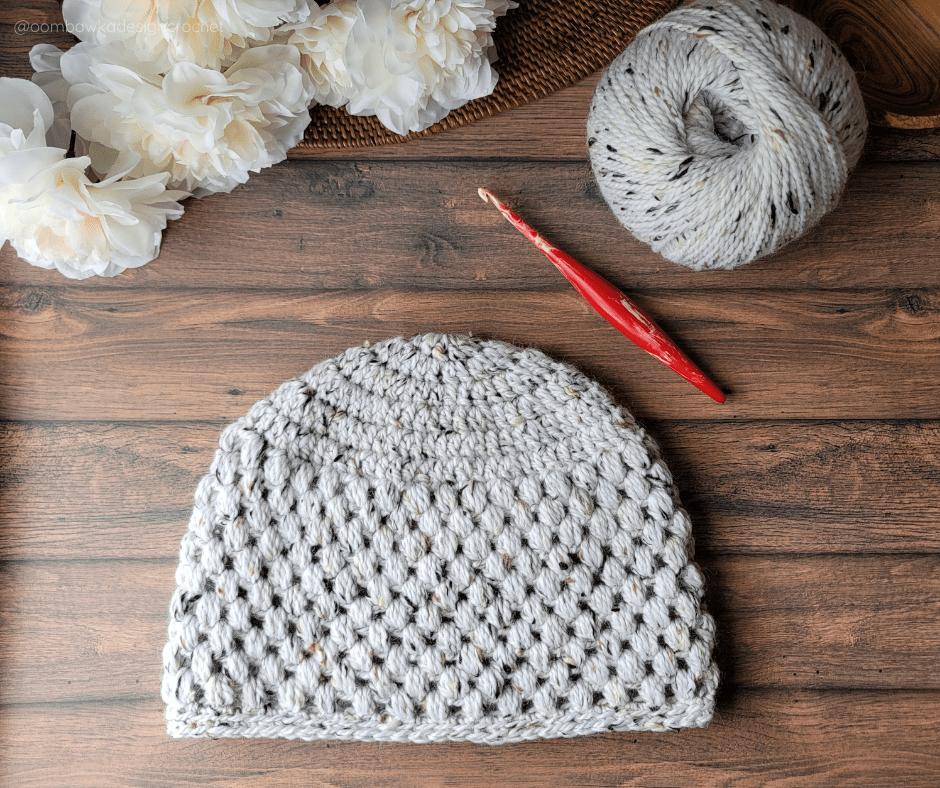 Adult Medium Olivia Puff Stitch Hat