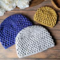 Olivia Puff Stitch Hat Baby to Adult - Stitch&HustleBlogHop