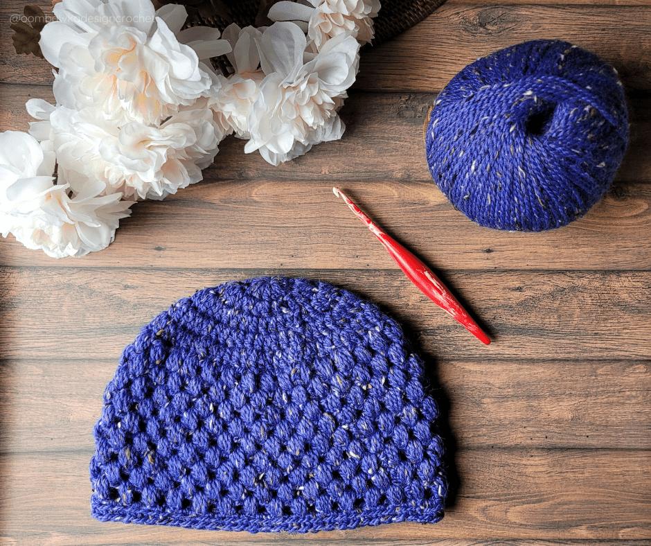 Teen Olivia Puff Stitch Hat Pattern