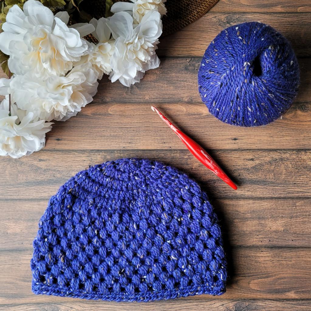 Olivia Puff Stitch Hat Pattern