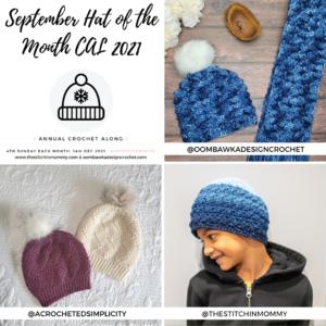 September Hat of the Month Crochet Along