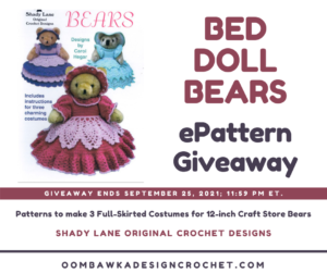 Shady Lane Bed Doll Bears ePattern - Review and Giveaway