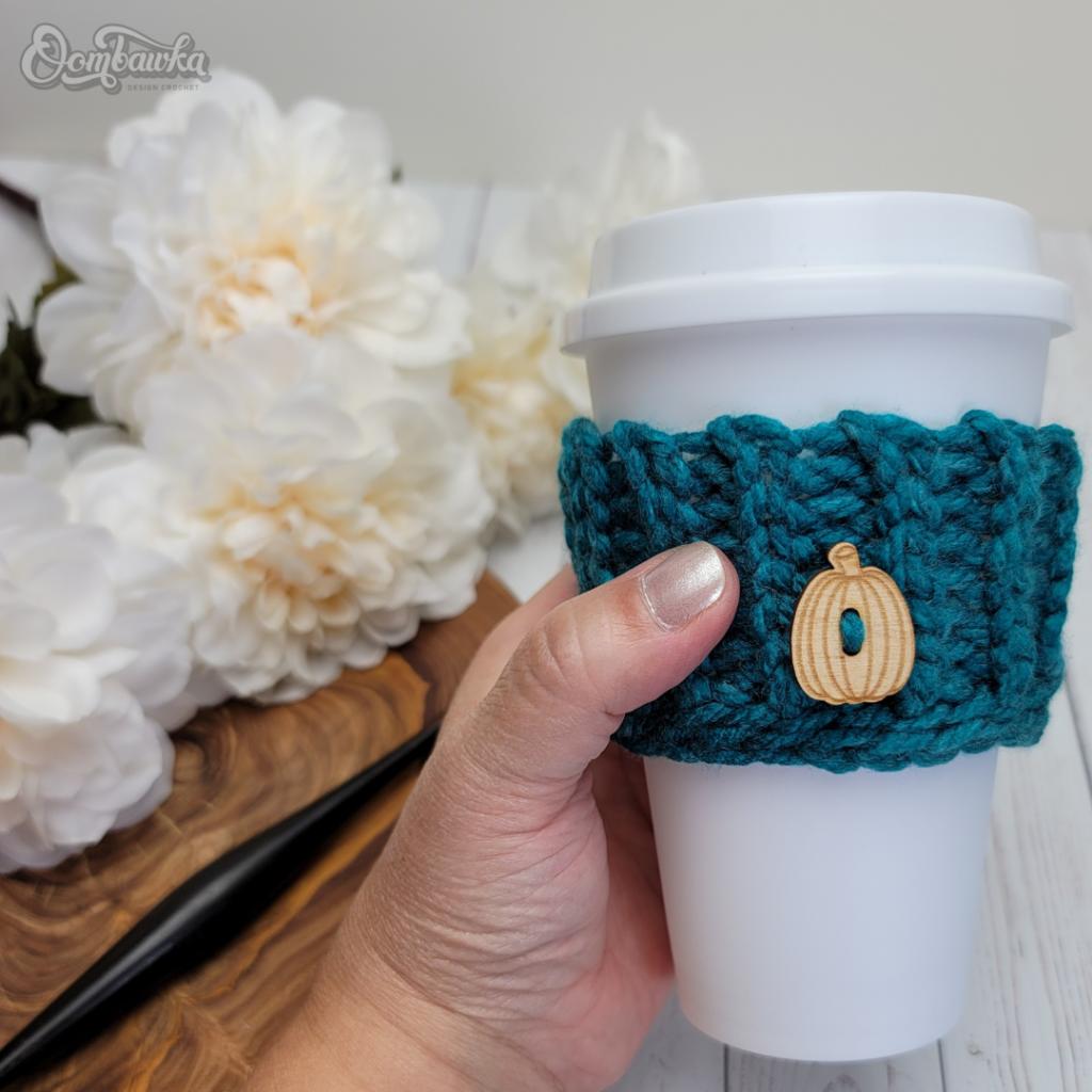 Skinny Coffee Cup Sleeve Pattern OombawkaDesignCrochet