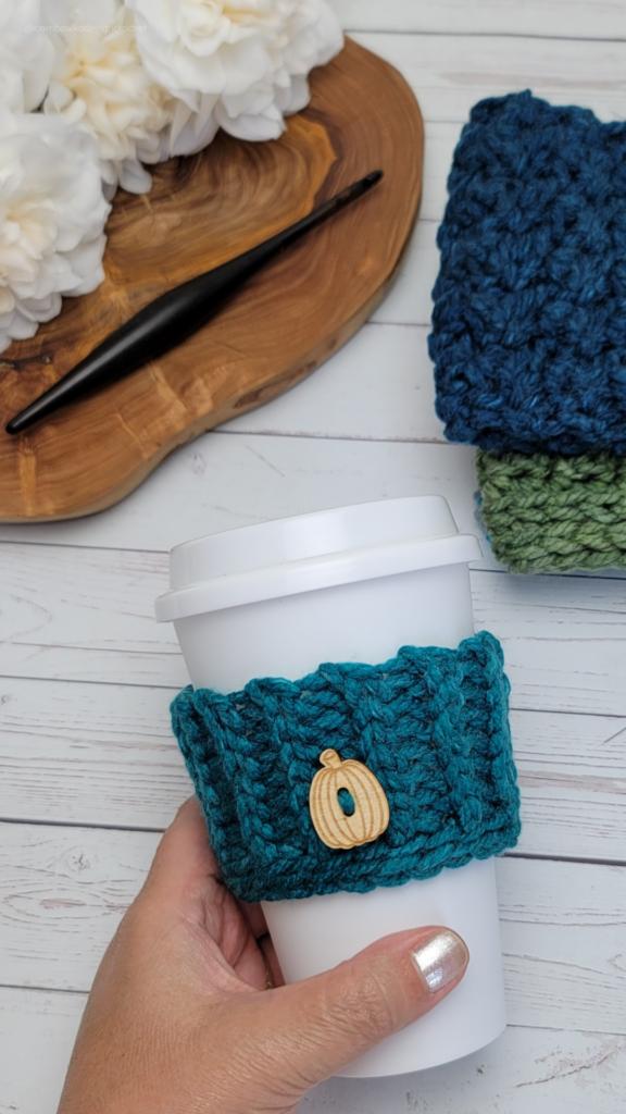 Skinny Coffee Cup Sleeve by Rhondda Mol