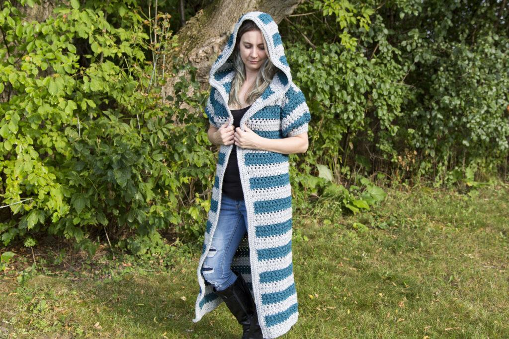 Talara Hooded Duster Crystal Bucholz - Crystalized Designs