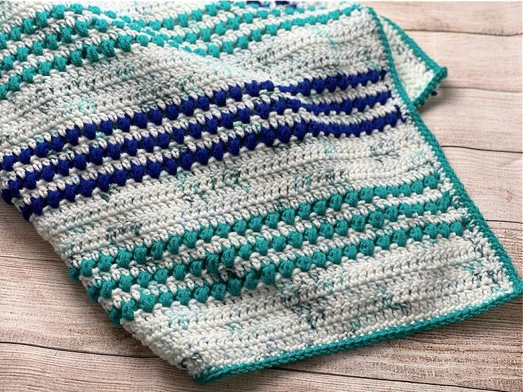 Puff stitch baby blanket - Erica Dietz