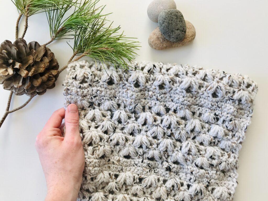 Snowbank Infinity Scarf crochet pattern