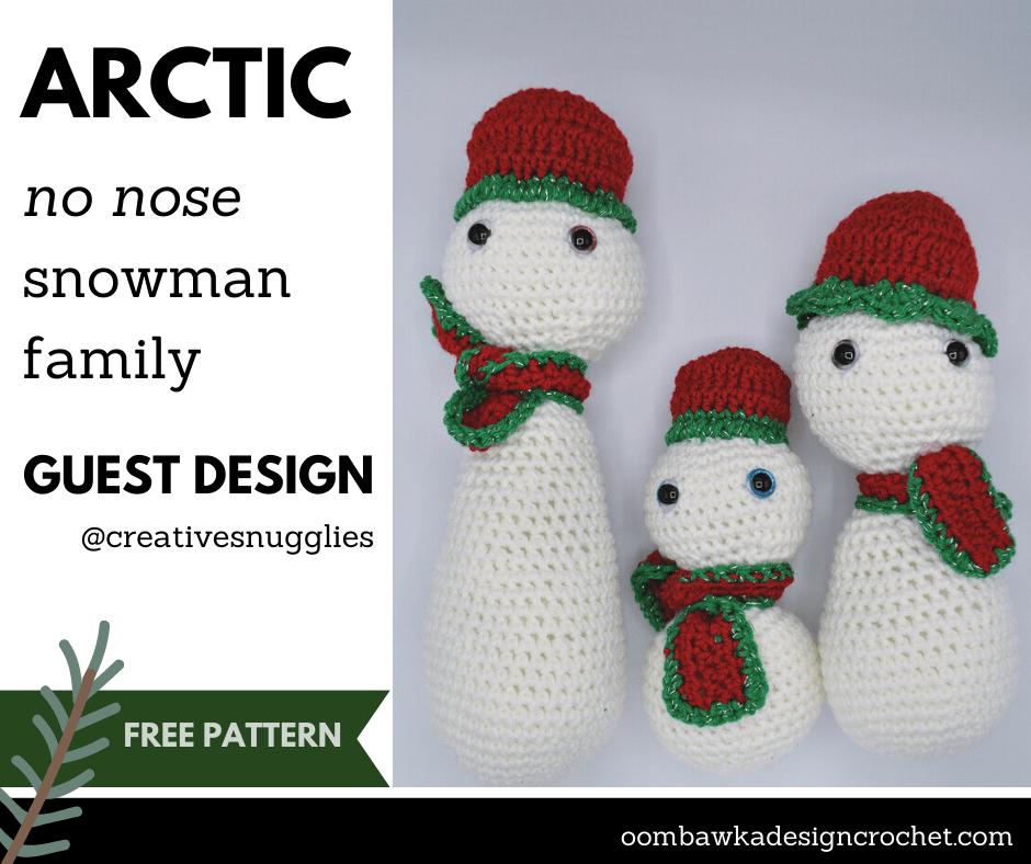 Arctic No Nose Snowman Family - Creative Snugglies Facebook