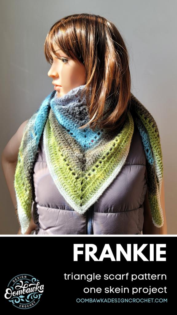 Frankie Triangle Scarf Free Crochet Pattern.