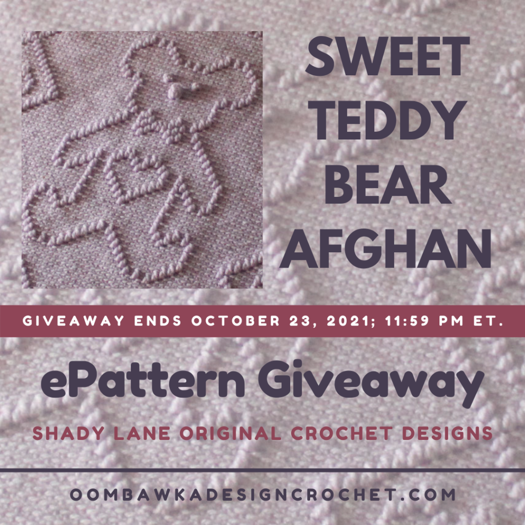 Sweet Teddy Bear Afghan ePattern Review and Giveaway