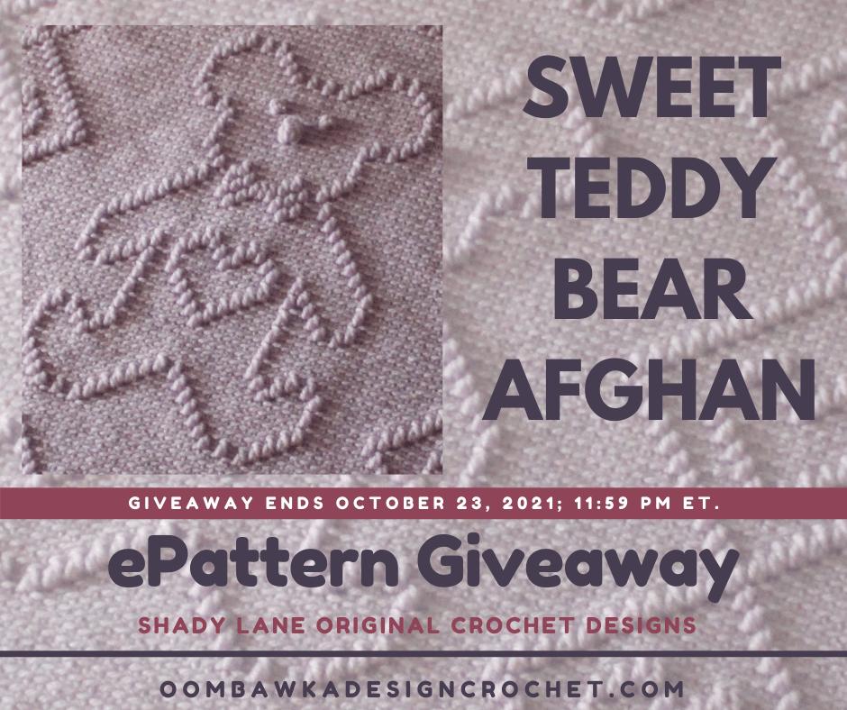 Sweet Teddy Bear Afghan ePattern Shady Lane Original Crochet Designs