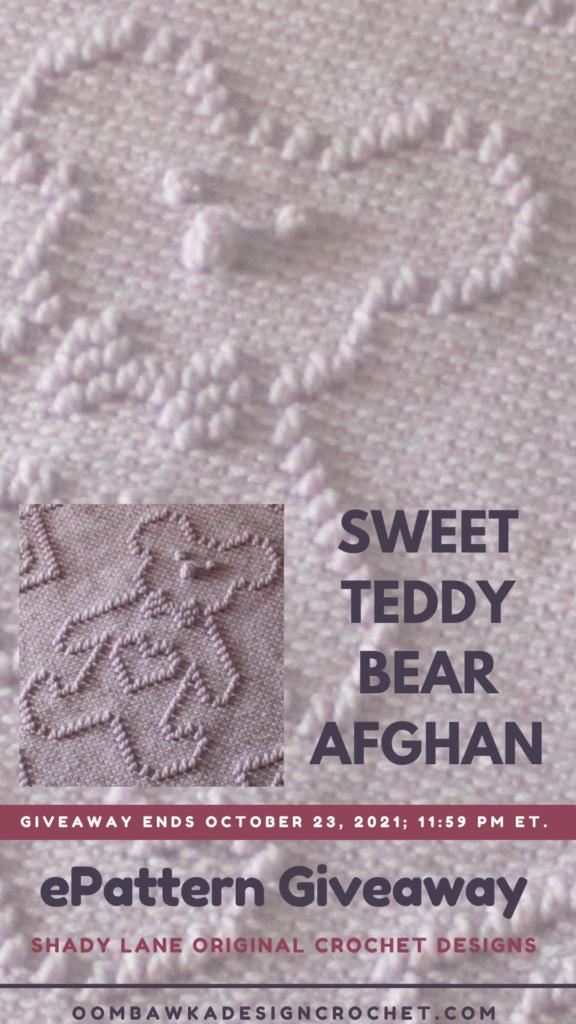 Sweet Teddy Bear Afghan ePattern from Shady Lane
